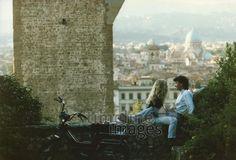 Florenz, 1982 Wernicke/Timeline Images #1980er #1980s #80er #80s #Liebe #Liebespaar #Love #Italien #Mofa #Paar