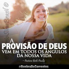 """""""A Provisão de Deus vem em todos os ângulos da nossa vida"""" ~ Pastora Beth Paulla #QuebraDeCorrentes #ecdonline"""