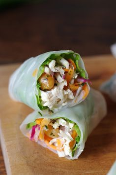Pulled pork spring roll
