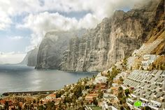 "Los Gigantes (""The Giants""), Santa Cruz de Tenerife, Spain - Only a few hundred miles from Cap Blanc, in Spain's Canary Islands The Places Youll Go, Places To See, Black Sand Beach Hawaii, Costa, Seaside Beach, Beach Wallpaper, Canario, Canary Islands, Adventure Is Out There"