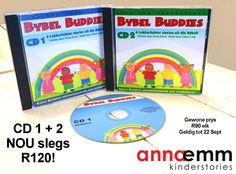 Bybel Buddies (36 Bybelstories op CD voorgelees deur Deon Lotz)  Afrikaanse Kinderstories deur Anna Emm! Beskikbaar by www.AnnaEmm.co.za
