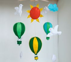 Gift for new parents gift for new mom Hot Air Balloon