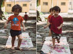 Pintando com os pés | Painting with your feet