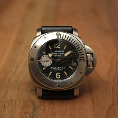 "New Grail Watch: Panerai PAM 64C Submersible 1000m ""La Bomba"" - http://grail-watch.com/2014/02/27/panerai-pam-64c-submersible-1000m-la-bomba/"