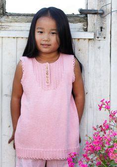 Neulottu tunika 92-152 cm SK7/14. Knitting For Kids, Peplum, Barn, Bomull, Knits, Tops, Dresses, Women, Fashion