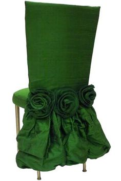 A way to add emerald green, the Pantone 2013 color of the year, to a wedding  I want to do this for my end chairs in the dining room