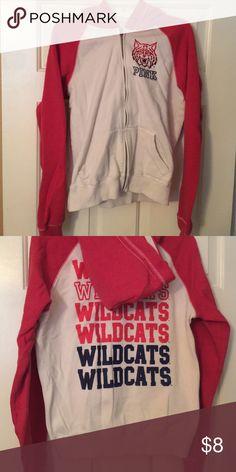 Pink Jacket Victorias Secret Wildcats pink zip up jacket Victoria's Secret Jackets & Coats