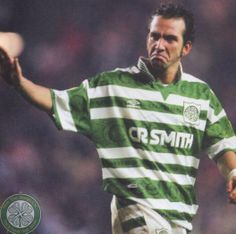 Paolo Di Canio of Celtic in World Football, Football Fans, Football Jerseys, Football Players, Celtic Heroes, Celtic Fc, Football Program, Best Fan, Glasgow