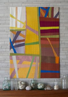 quilted wall art by Robin Ferrier