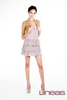 Vestido. Modelo 1774. Precio $200 MXN  #Lineas #outfit #moda #tendencias #2014 #ropa #prendas #estilo#outfit #moda #primavera #vestido