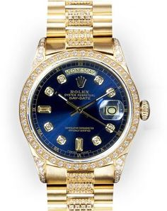Men's Blue Dial Rolex Day Date Super President