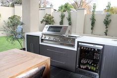 Maybe put wine fridges in bbq area? Outdoor Areas, Outdoor Rooms, Outdoor Living, Grill Gazebo, Gazebo Pergola, Outdoor Bbq Kitchen, Outdoor Kitchen Design, Small Space Interior Design, Bbq Area