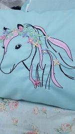 Floral Unicorn sewn