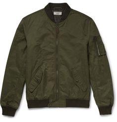 J.CREW Wallace & Barnes A2 Twill Bomber Jacket. #j.crew #cloth #coats and jackets