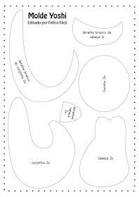 molde yoshi, yoshi em feltro, moldes super mario, super mario feltro, artesanato em feltro, curso de feltro, moldes de feltro, patrones de fieltro, felt craft, handmade felt, diy felt,
