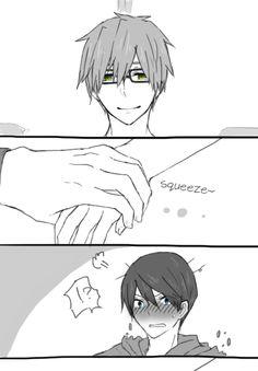[7/10] by こけし屋@ついったする。/ translated by rivaerez FREE! Makoto x Haru