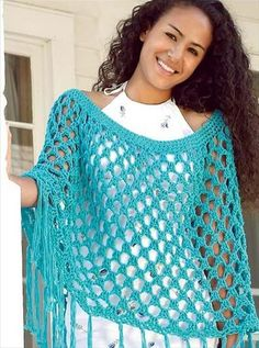 24 Adorable Summer Poncho Free Crochet Design | DIY to Make