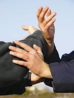 Pour la troisième année consécutive, le 8 mai avait lieu à Gif/Yvette un stage-échange de Tui Shou. Tui Shou? Mais qu'est-ce que c'est que ça? C'est un jeu d'enfant! Tui Shou signifie poussée de mains (tui = pousser, shou = mains). C'est un exercice à...