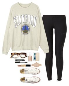Lazy day by madisonraexoxo on Polyvore featuring NIKE, Converse, Michael Kors, Sonix, Chanel, Lord & Berry and Essie