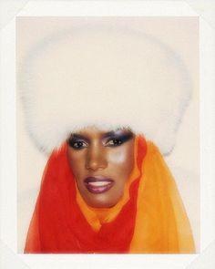 Grace Jones by Andy Warhol, 1984.