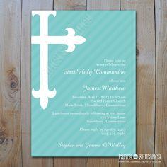 Communion / Confirmation / Baptism Invitation / Printable DIY Digital File / Item 22631. $15.00, via Etsy.