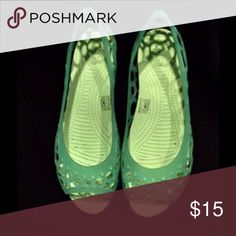 03c0562c8ecc Shop Women s CROCS Green size 9 Flats   Loafers at a discounted price at  Poshmark.
