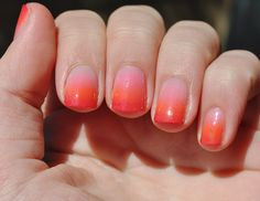 Beauty by Clara: tutorial: gradient/ombre nails