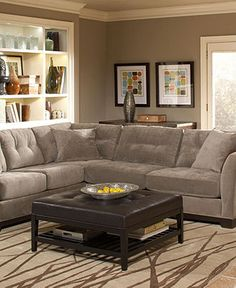 Elliot Fabric Sectional Sofa Collection - Living Room Furniture - furniture - Macy's