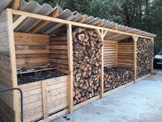 Outdoor Pallet 724938871249190769 - abris bois palettes Source by Outdoor Firewood Rack, Firewood Shed, Firewood Storage, Backyard Sheds, Backyard Landscaping, Backyard Projects, Outdoor Projects, Outdoor Spaces, Outdoor Living