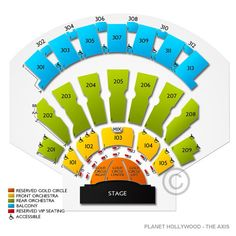 The Axis at Planet Hollywood Resort and Casino -  we are in 206, row H