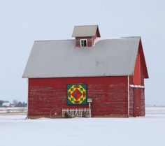 Barn Quilts and the American Quilt Trail: After the Snow