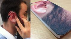 Earphone! Printed on the Roland VersaUV LEF-20. Complete with textured beard effect!