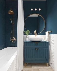 Bathroom interior design 629307747919325208 - Top 50 Best Blue Bathroom Ideas – Navy Themed Interior Designs Source by catelinedamien Bathroom Color Schemes, Bathroom Paint Colors, Paint Schemes, Paint Colours, Pastel Colors, Tub Paint, Blue Colors, Paint Colors For Home, Colour Schemes