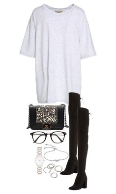 """Untitled #4482"" by theeuropeancloset on Polyvore featuring Yeezy by Kanye West, Stuart Weitzman, Monica Vinader, Forever New and Forever 21"