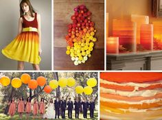 orange orang, colors, fall ombr, inspiration boards, bouquets, belle, design, ombr parti, ombr inspir