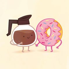 Adorable, Delightful Illustrations Show Foods That Go Well Together As Friends - DesignTAXI.com