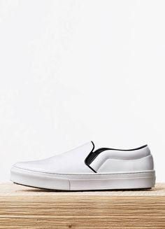 SKATE IN OPTIC WHITE SPAZZOLATO - Spring / Summer Runway 2015 collections - Shoes | CÉLINE