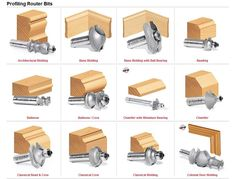 Router Bits, Router Bit Types, Router Tool, Router Cutters, Wood Router, Router Woodworking, Woodworking Workshop, Router Projects, Woodworking Projects