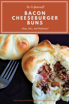 Soft and chewy warm buns stuffed with ground beef, cheese and bacon. An easy meal that anyone would love, especially the kids in your life!