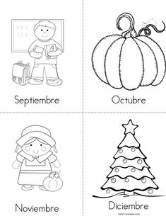 Meses del ano 1 Book beginning readers book that you print for kids
