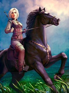 Ciri by Neirr.deviantart.com on @DeviantArt - More at https://pinterest.com/supergirlsart #the #witcher #thewitcher #fanart #horse #riding