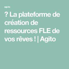🚀 La plateforme de création de ressources FLE de vos rêves ! | Agito