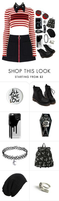 """Untitled #360"" by kristenisafangirl ❤ liked on Polyvore featuring Fujifilm, Hot Topic, Casetify, Goblinko Megamall, AllSaints, Bug, Dark, emo, grunge and edgy"