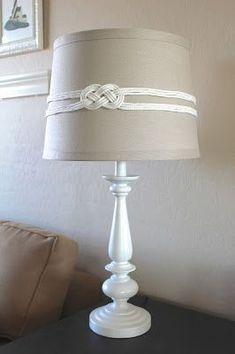 DIY nautical rope knot lampshade tutorial