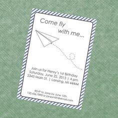 Paper Airplane Invitation Template Best Of Paper Plane Invitation Paper Airplane Invite Paper Pirate Invitations, Invitation Paper, Birthday Party Invitations, Invite, Invitation Ideas, Paper Airplane Party, Paper Plane, Paper Doll Template, Printable Invitation Templates