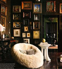 Decorating with faux fur is nothing new. I have been using various faux furs in  interiors for years. However, something that IS trending...