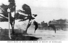 West Palm Beach at height of hurricane 1928