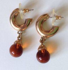 Vintage Cabouchon Drop Earrings