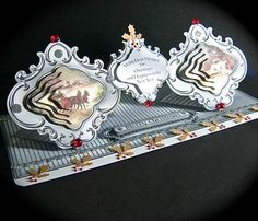 Card Gallery - Vintage Horse & Sled Double Spring Fold Card Kit