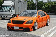 Aggressive Big Body // Kouji's Toyota Celsior. Japanese Sports Cars, Japanese Cars, Lexus Gs300, Lexus Ls, Ride 2, Import Cars, Jdm Cars, Tuner Cars, Stance Nation